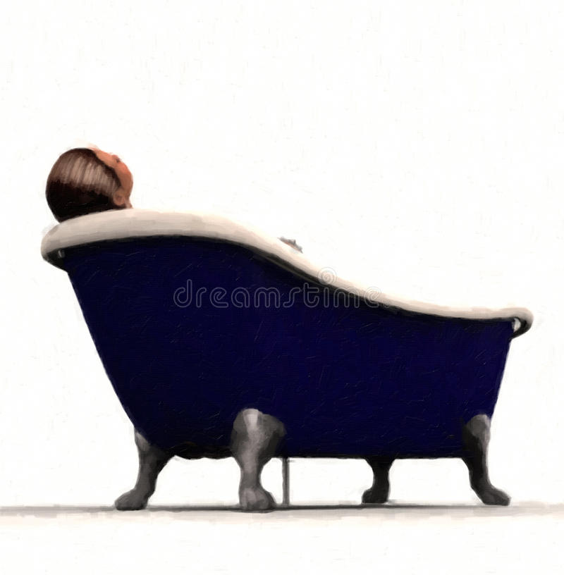 浴缸爪英尺人员 向量例证