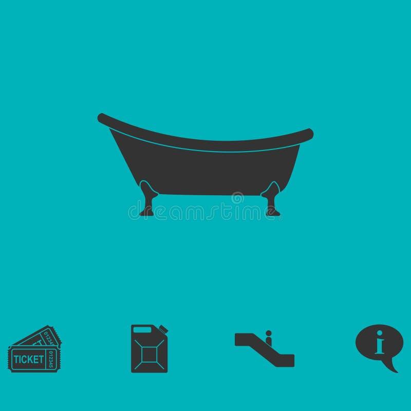 浴缸象舱内甲板 库存例证