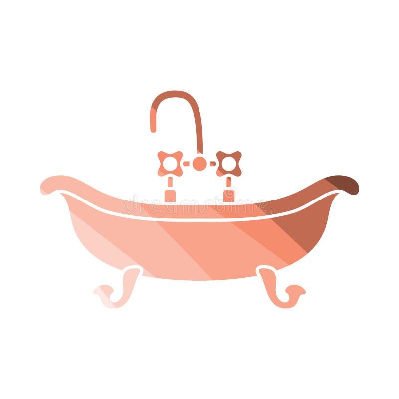 浴缸象 向量例证