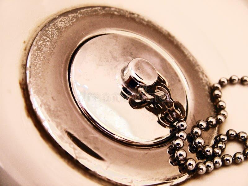 浴缸链放油塞 库存照片