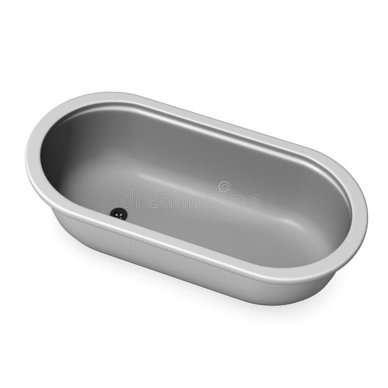 浴缸 向量例证