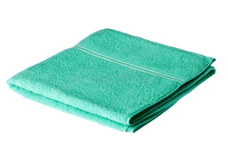 浴被折叠的毛巾 免版税库存照片