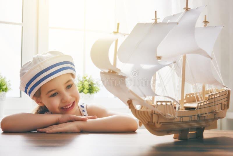 海、冒险和旅行梦想  免版税库存图片