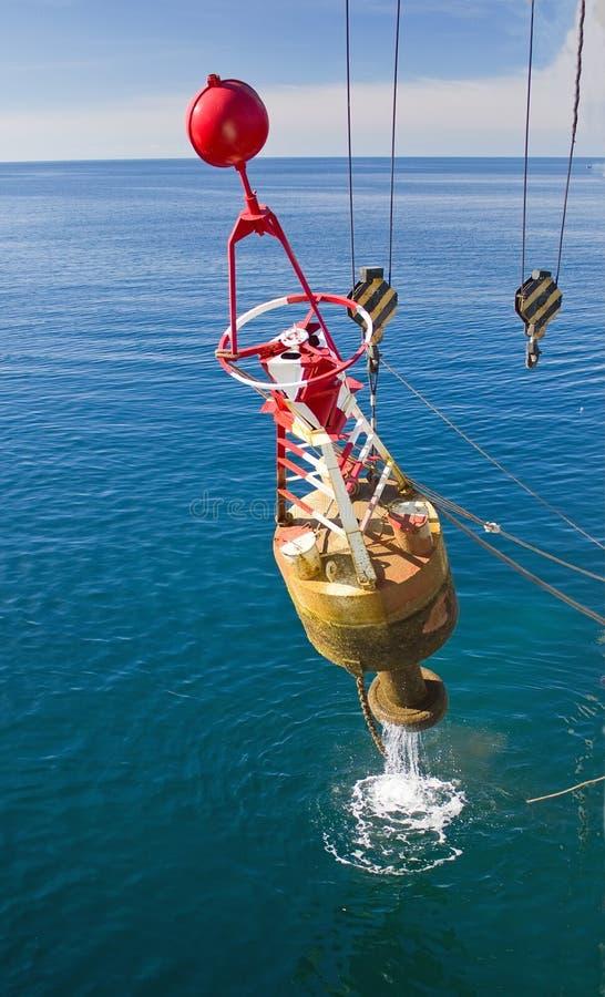 海上修理可定位浮体 免版税库存照片