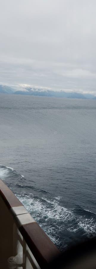 海上在阿拉斯加 免版税库存图片