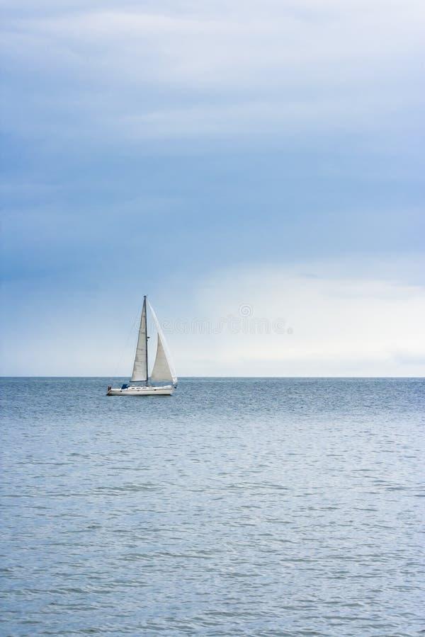 海上的寂寞 免版税库存图片