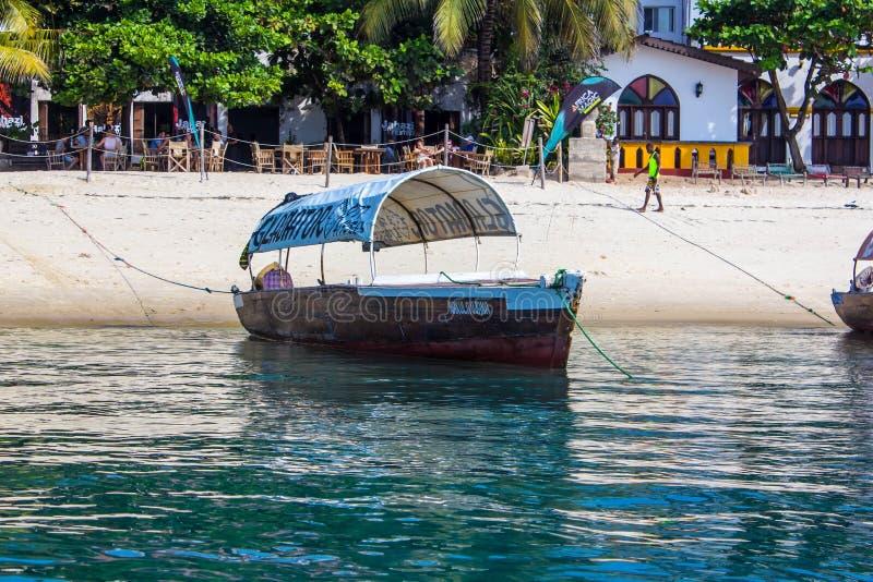 海上的小船 库存照片