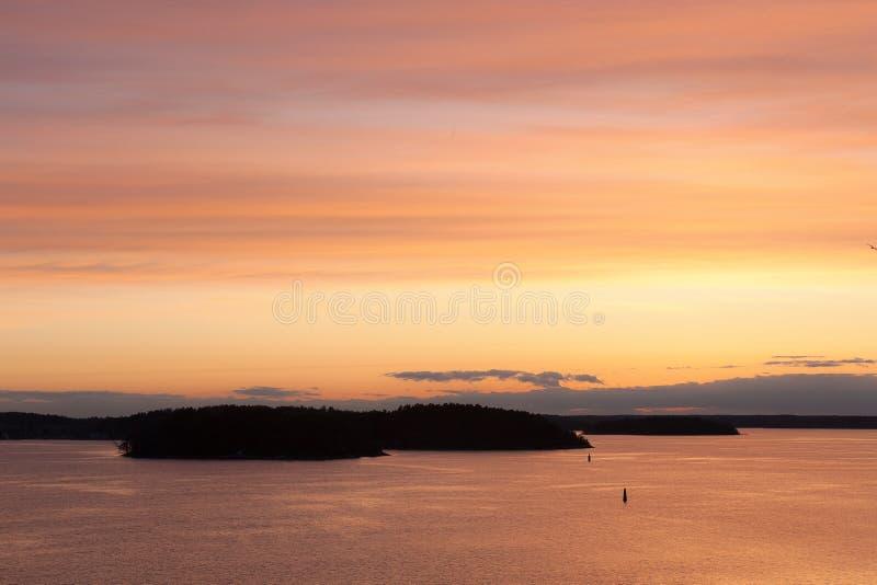 海上的早晨风景 库存照片