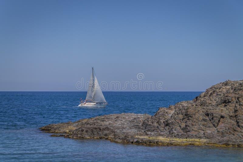 海上的视图 图库摄影