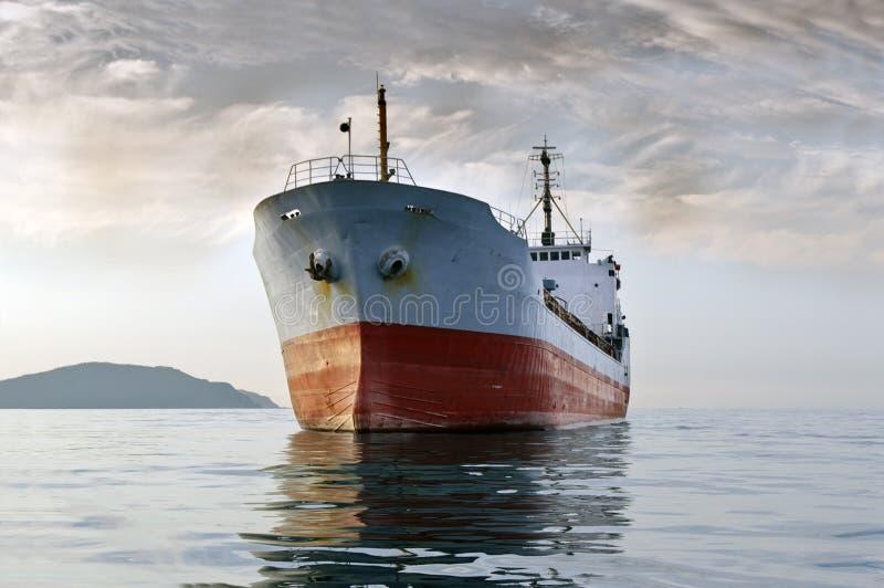 海上的货船 图库摄影