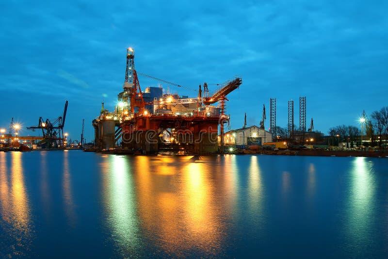 海上钻井在波兰 库存图片