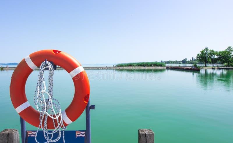 海事安全设备,保险索 库存照片