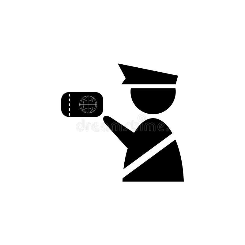 海关官员象 有护照的移民官员 向量例证
