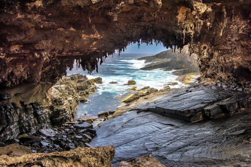 海军上将曲拱,坎加鲁岛,澳大利亚 库存图片