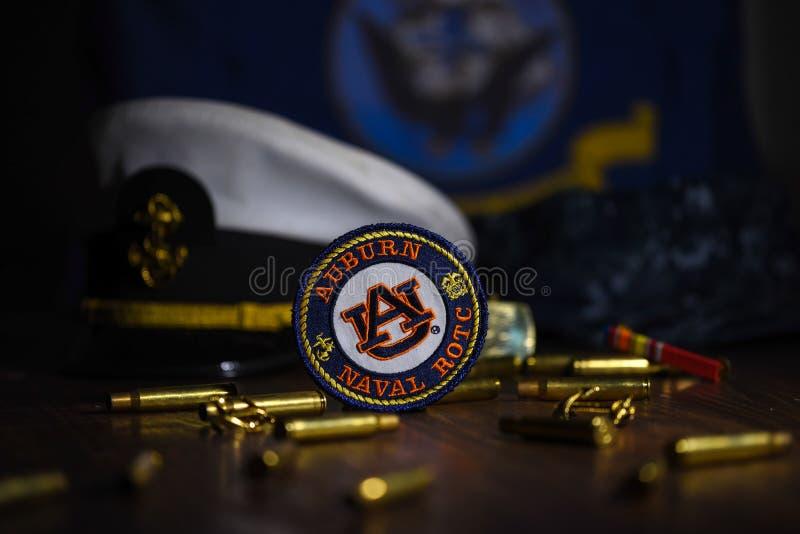 海军主题的对象mashup 库存照片
