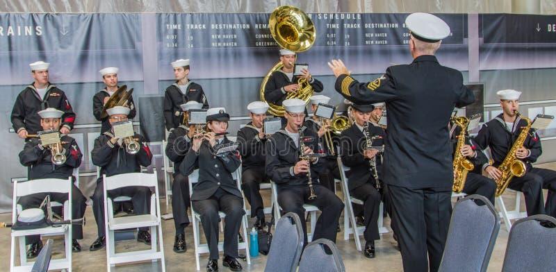 海军乐队新奥尔良 库存图片