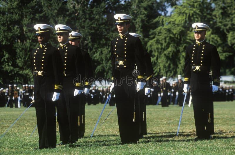 海军官校学生 库存照片