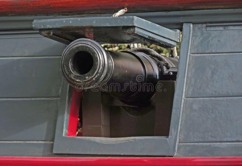 海军甲板枪 图库摄影