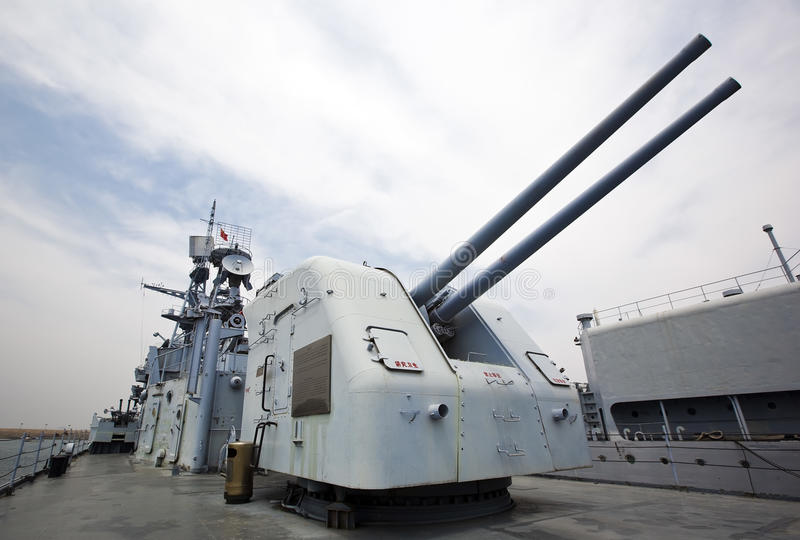 海军的枪 图库摄影