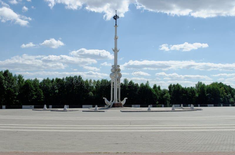 海军部广场在沃罗涅日 免版税库存照片