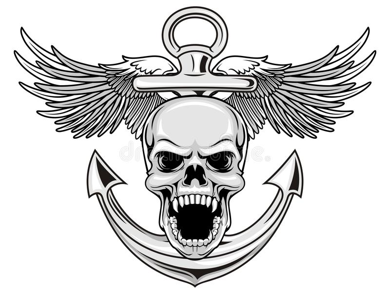 海军头骨 向量例证