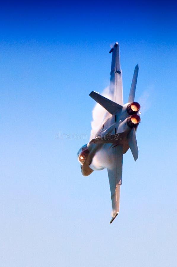 海军F-18超级大黄蜂 免版税图库摄影