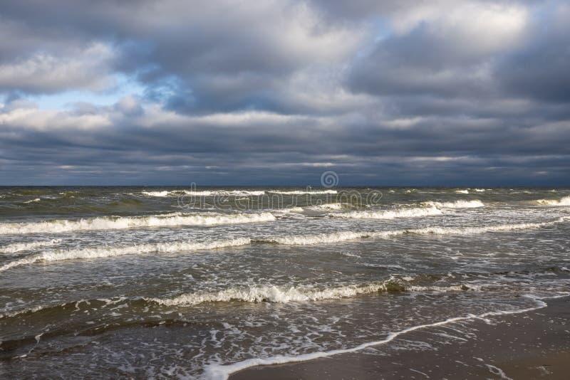 海冬天 库存照片