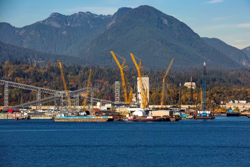 海口和北温哥华区市货运  库存图片