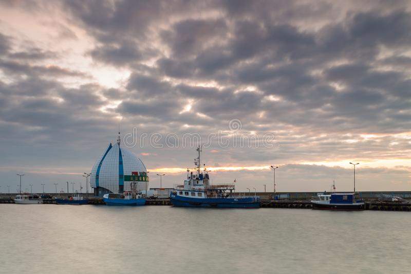 海口和防堤,恶劣环境测井,波兰的看法 库存图片