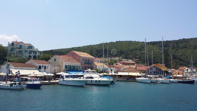 海口在希腊 免版税图库摄影