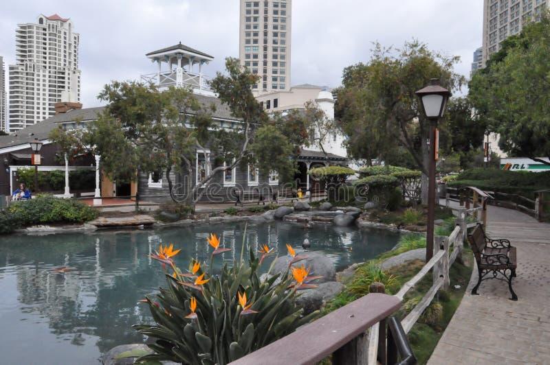 海口村庄在圣地亚哥,加利福尼亚 免版税库存照片