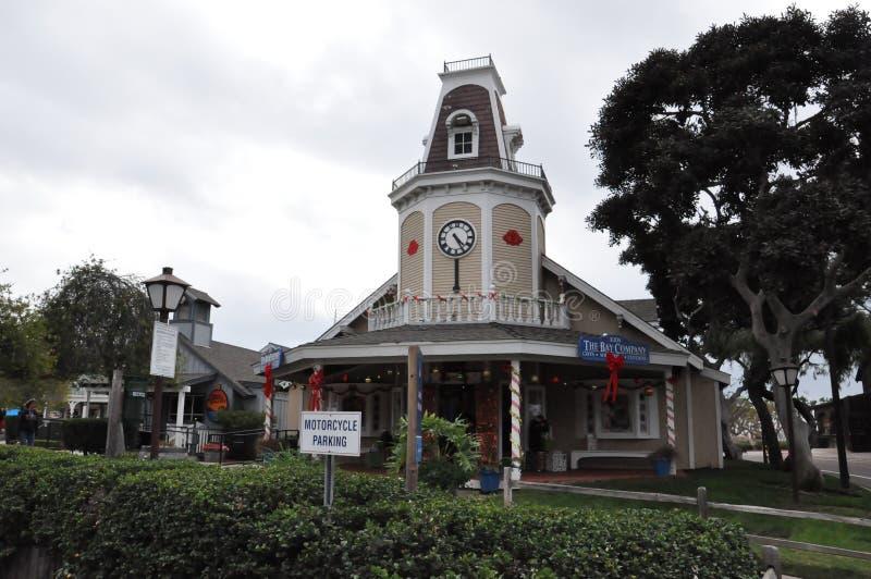 海口村庄在圣地亚哥,加利福尼亚 库存照片