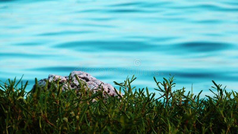 海和土地 免版税库存照片