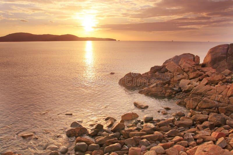 海和太阳在早晨 库存图片