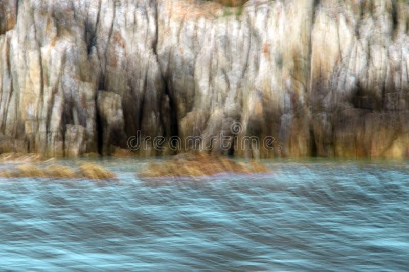 海和峭壁的抽象图象 免版税库存图片