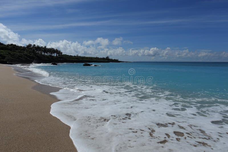 海和沙子在南海湾kenting 免版税库存照片