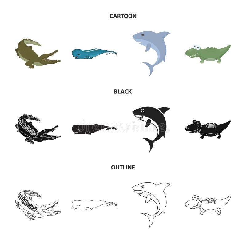 海和海洋象的传染媒介例证 海和爬行动物股票简名的汇集网的 皇族释放例证