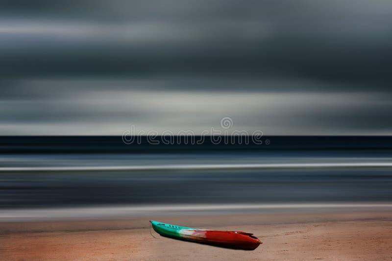 海和海滩风暴 库存图片