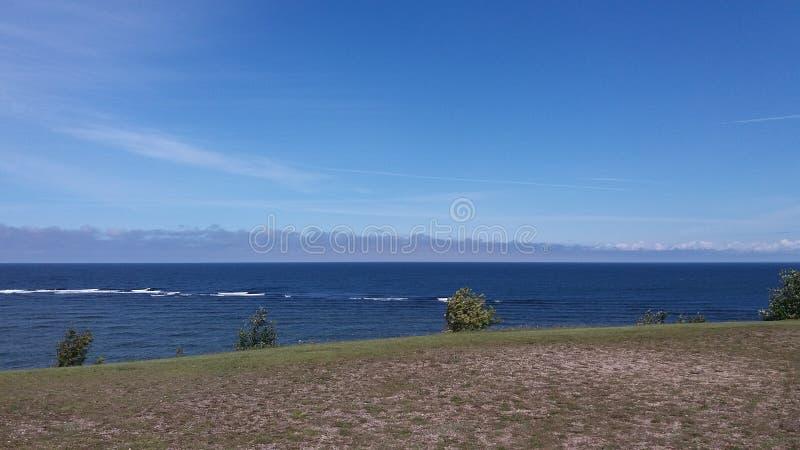 海和蓝天 库存图片