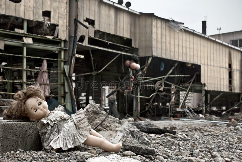 海啸日本2011年福岛 图库摄影