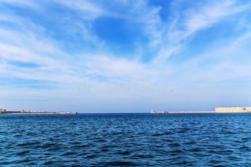 海在塞瓦斯托波尔 免版税图库摄影