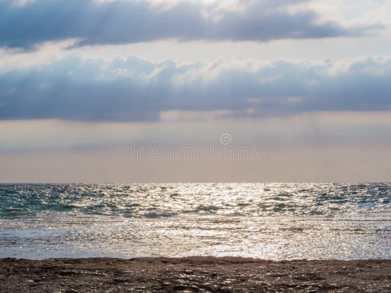 海在巴特伦,黎巴嫩 图库摄影