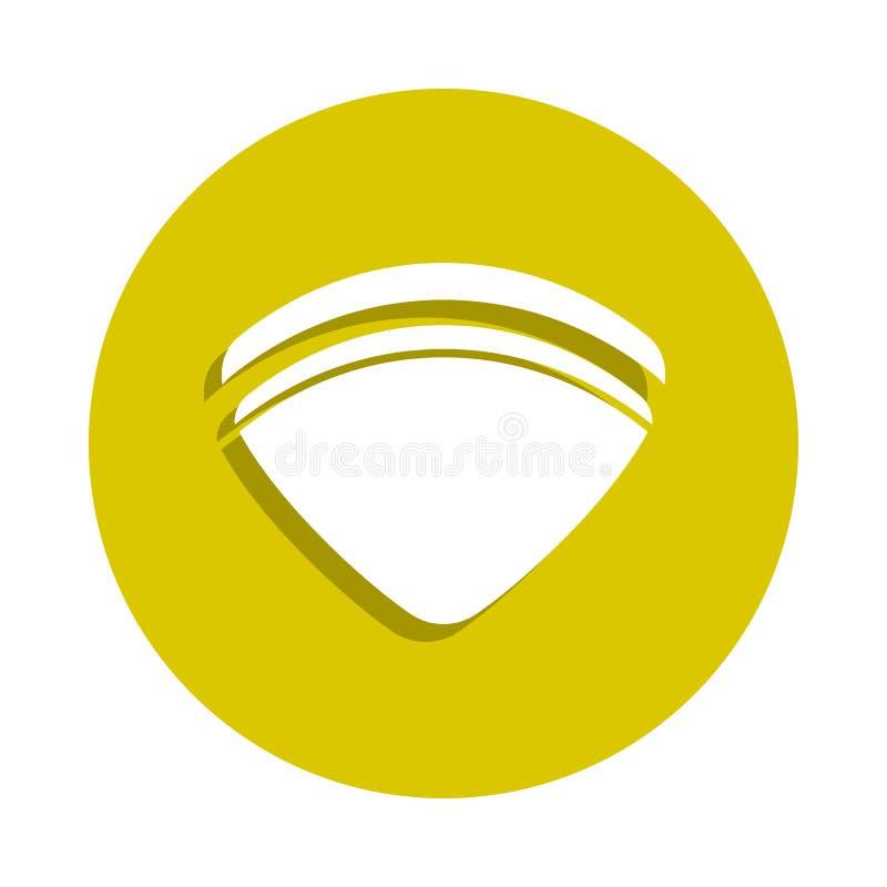 海在徽章样式的壳象 一sheashell海滩汇集象可以为UI, UX使用 库存例证