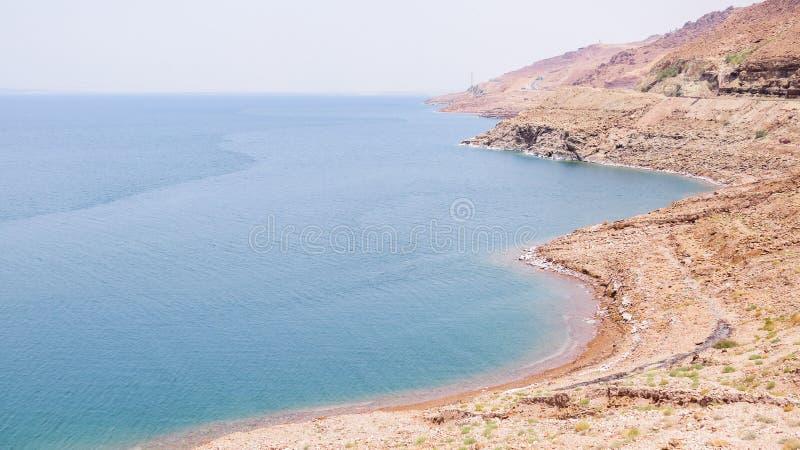 死海在约旦 免版税图库摄影