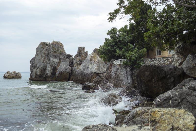 黑海在Gurzuf 免版税库存照片