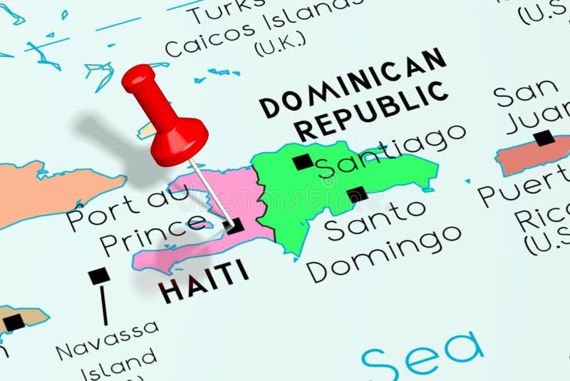 海地,太子港-首都,别住在政治地图 皇族释放例证