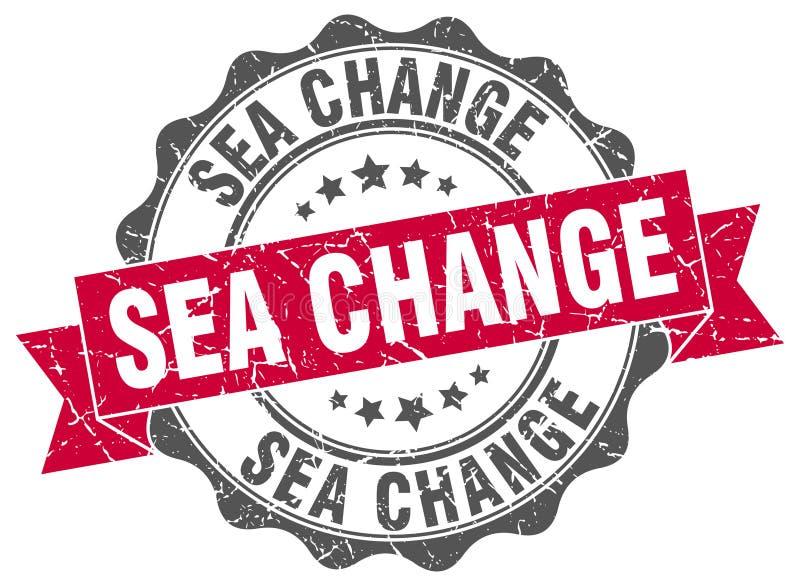 海域变化封印 印花税 向量例证