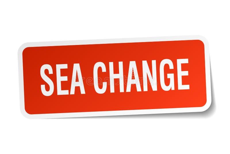 海域变化贴纸 向量例证