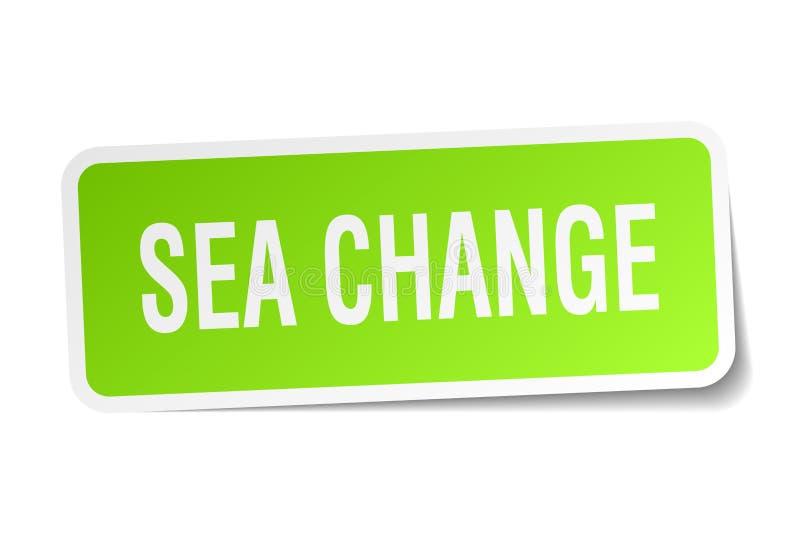 海域变化贴纸 库存例证
