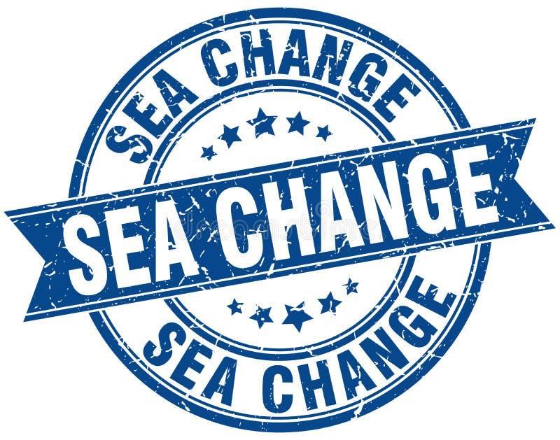 海域变化邮票 向量例证